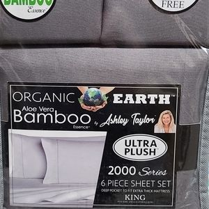 Aloe Vera Bamboo 6 Piece Sheet Set - Dark Gray